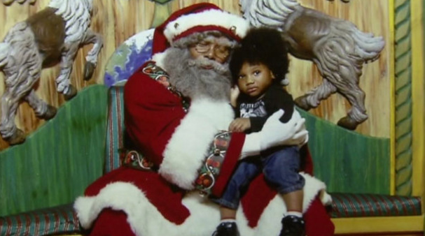 Black Santa at Macy's