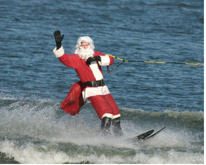 Water skiing Santa